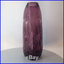 Rare Vintage Amethyst Purple Blenko Vase #5422 Wayne Husted Mid Century Glass