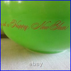 Rare Vintage Limited Release Promo Green Merry Christmas Cinderella Bowl