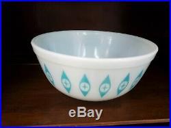 Rare - Vintage - PYREX ATOMIC EYES Chip And Dip Bowl Set - MID CENTURY MODERN