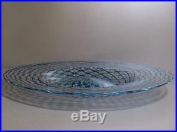 SEGUSO RETICELLO Mid Century Murano Italian Studio Glass Large Bowl / Charger