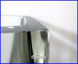 SET Vtg Mid Century Murano Sommerso Mandruzzato Faceted Vase Ashtray Smoke Glass