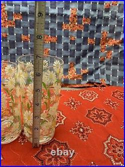 SIGNED Culver Daisy Drinking GLASSES Original Drink Holder Mid Century