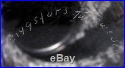 SIGNED FLYGSFORS SWEDEN NEBULA TEXTURED ART GLASS VASE FOLKE WALVING MID CENTURY