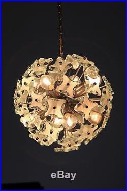 SNOWBALL Italy Glass Pendant Lamp 1950s Mid Century 50er Stilnovo