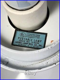 SPACE AGE Mid Century Modern LAUREL Glass MUSHROOM Tulip Base SCULPTURE LAMP