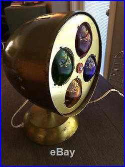 SPARTUS PRISMA LITE rotating glass color wheel WORKS GREAT! MidCentury Vintage