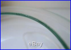 STUNNING MID-CENTURY GLASS GLOBE & CHROME SWISS TABLE LAMP, 1970s