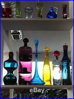 SUPERB 1960s BLENKO 6027 Decanter & Shot Glass BOTTLE art glass Mid Century mod