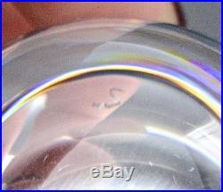 SUPERB BOXED SET 6 SIGNED STEUBEN CRYSTAL MID CENTURY MODERN VODKA SHOT GLASSES
