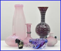 Seguso Vetri d´Arte Murano Art Glass Vase A Scavo Roman Style Mid Century Modern