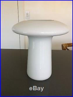 Sergio asti glass vase for Knoll mid century Italy