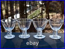 Set 4 Steuben Mid Century Air Twist Cocktail Crystal Glass George Thompson 16 av