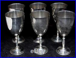 Set Of 6 Juventino Lopez Reyes MID Century Modern Sterling Silver Wine Glasses