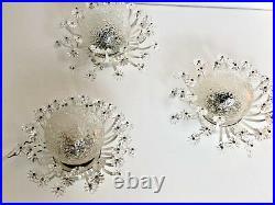Set of Three Glass Blossom Wall Lights Emil Stejnar ERA Mid Century Modern 1950s