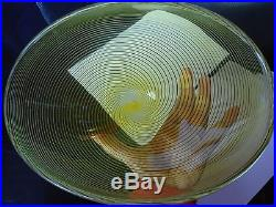 Signed MID Century Murano Archimede Seguso Filigrana Large Scarce Glass Bowl