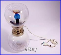 Space Age Lamp Italian Design Mid Century Mazzega Sputnik Modernist Murano Glass