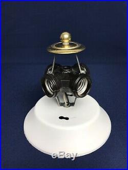 Starburst Ceiling Light Fixture UFO Glass Shade Mid Century Atomic Retro 17.5
