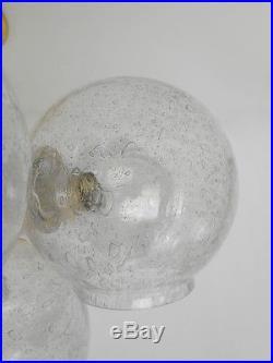 Stunning Mid Century Vintage Sputnik Chandelier 12 Glass Lampshades 1960s