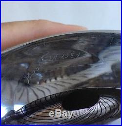 Stunning Vintage Mid Century Kosta Boda Heavy Art Glass Vase Signed LH 138 Y