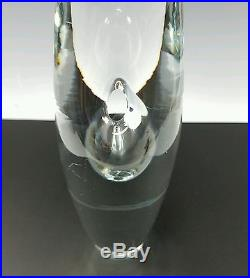 Timo Sarpeneva Vintage Scandinavian MID Century Modern Art Glass Orchid Vase