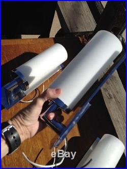 TRIO VINTAGE MID CENTURY MODERN MCM CHROME CASE GLASS LUMINAIRE TORCH LAMP LIGHT