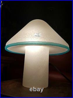 Table Lamp Vistosi Murano Mushroom Pulegoso Glass MID Century