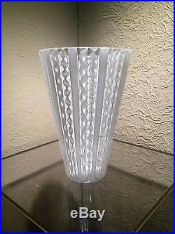 Tall Venetian Italian Murano Mid Century Art Glass Vase