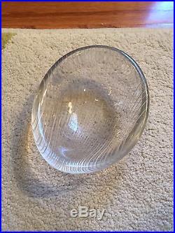 Tapio Wirkkala Mid-Century Modern Glass Bowl Striped Signed Dated 1955 Iittala