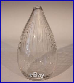 Tapio Wirkkala for Iittala Engraved Art Glass Finnish Mid-Century Vase