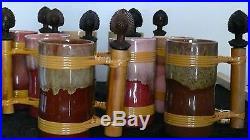 Tiki Mugs Hawaiian Polynesian MID Century 1950's Glasses