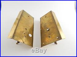 Two MID Century Modern Carl Fagerlund For Orrefors Art Glass Wall Lights Sconces