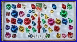 ULTRA RARE Vintage Mid-Century PARAGON Mercury-Glass Christmas Ornaments Box