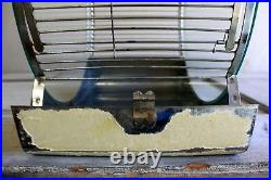 UNIQUE Vintage Mid-Century BIRD CAGE with Glass Panels Chrome