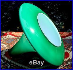 Unused Peill & Putzler Ah11 Tulip Pendant Lamp Drop-light Mint Glass Mid-century