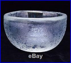 Very Nice MID Century Signed Venini Murano Carlo Scarpa Coroso Glass Bowl Dish