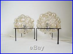 VINTAGE BUBBLE BEDSIDE LAMP BRUTALIST TYNELL MID CENTURY AMBER GLASS RETRO 70s