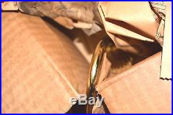 VINTAGE Mid Century NEW Hobnail MILK Opal GLASS Chandelier 5-Light 20 POL BRASS