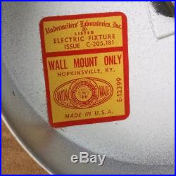 VINTAGE UNUSED MID-CENTURY BATHROOM WALL LIGHT WithGLASS TROUGH SHADE 1950'S-60'S