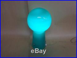 VINTAGE mid century GREEN cased glass MUSHROOM LAMP. MURANO. Maker.