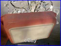 VTG 1956 Mid-Century PYREX PINK DAISY Space Saver 2 Qt Casserole Dish Lid 575-B
