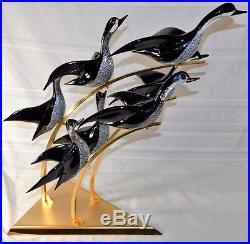 VTG Mid Century Modern Murano Zanetti Signed Geese Bird Art Glass Sculpture 27