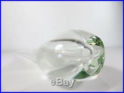 VTG Murano CLEAR SOMMERSO TEARDROP GLASS ART VASE Mid Century FLAVIO POLI Seguso