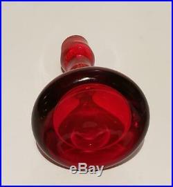 Very Rare! Vintage Blenko #7036 Tangerine Decanter Myers Mid-century Modern