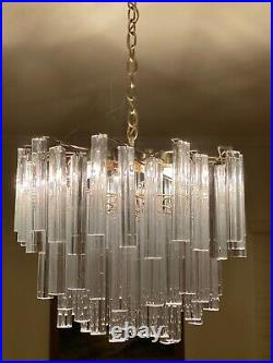 Very beautiful Mid Century modern 1960's Camer Murano Venini Glass Chandelier