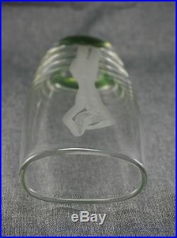 Vicke Lindstrand KOSTA Glass NUDE WOMAN Etched VASE 8 Elliptical Mid Century