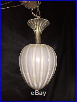 Vintage 1950's MURANO MID CENTURY GLASS PENDANT BAROVIER & TOSO Lamp Light