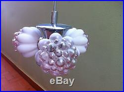 Vintage 1960 Space Age Sputnik Pendant ceiling lamp Mid Century bubble glass