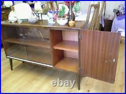 Vintage 1960's Teak Mid Century Sideboard/ Cabinet Cupboard Glazed