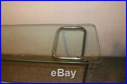 Vintage 60s Mid Century Modern MCM Glass Chrome Table Sofa Table Console Table
