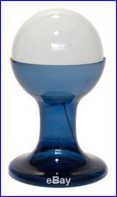 Vintage 70's Large Mazzega Mid Century Modern Table Lamp Glass Murano Italian